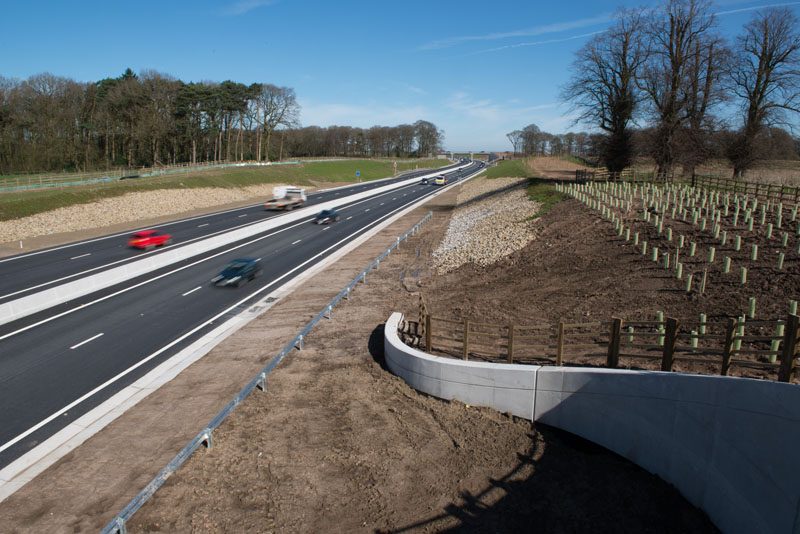 Precast concrete drainage products have helped Costain safely deliver a new dual carriageway section of the A556 trunk road.