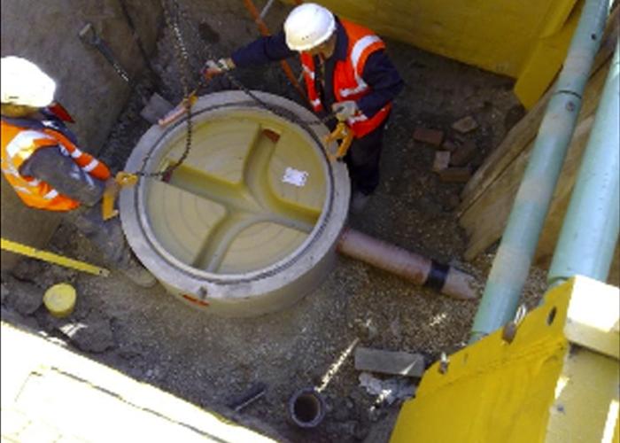 concrete manhole