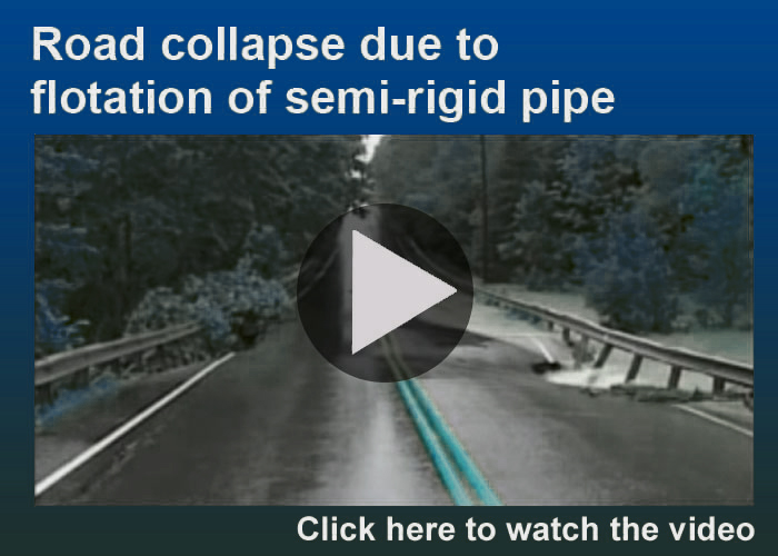 Road collapse video